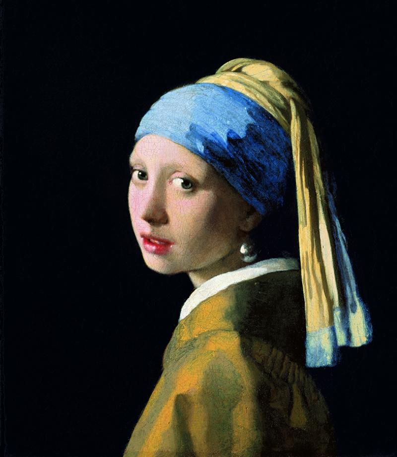 İnci Küpeli Kız Johannes Vermeer Yağlı Boya Sanat Kanvas Tablo