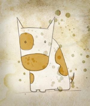 İnek İllustrasyon Çizim Popüler Kültür Kanvas Tablo