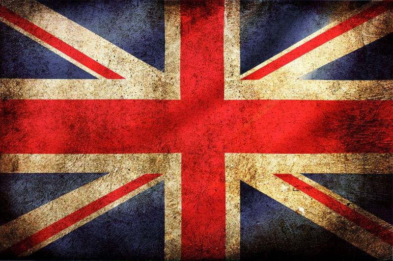 İngiliz Bayrağı, Eskitilmiş Retro İngiliz Bayrağı Kanvas Tablo