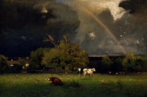 Inness George The Rainbow Yağlı Boya Sanat Kanvas Tablo
