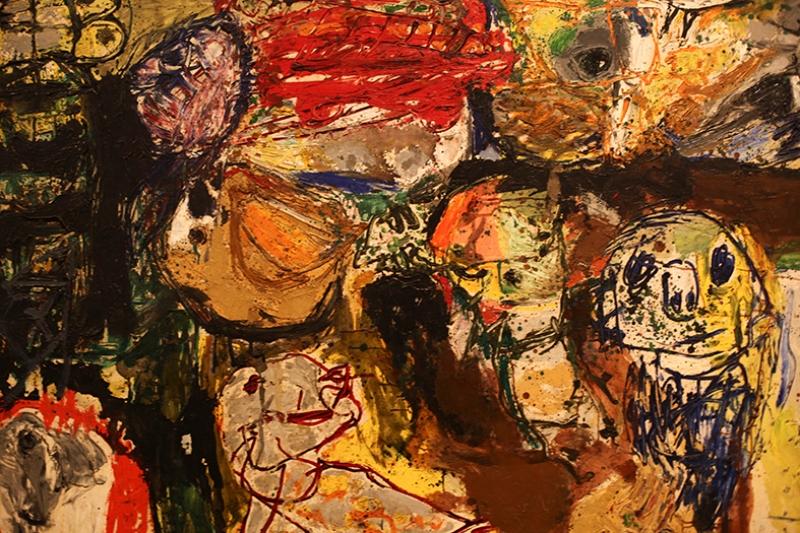 İnsanlar Abstract Soyut Yağlı Boya Sanat Kanvas Tablo