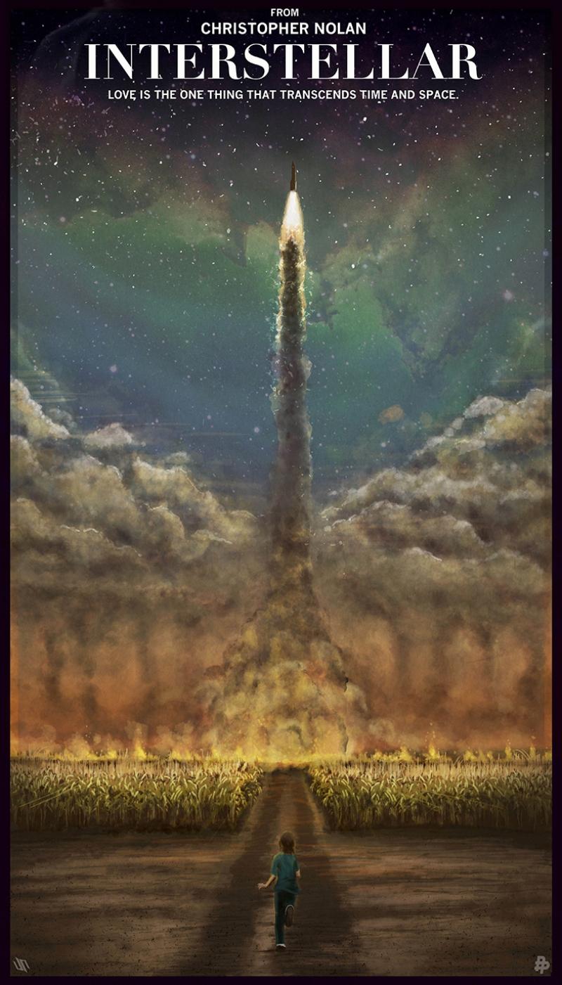 Interstellar Afiş Kanvas Tablo