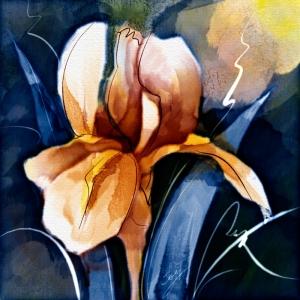 İris Çiçek Dekoratif Kanvas Tablo