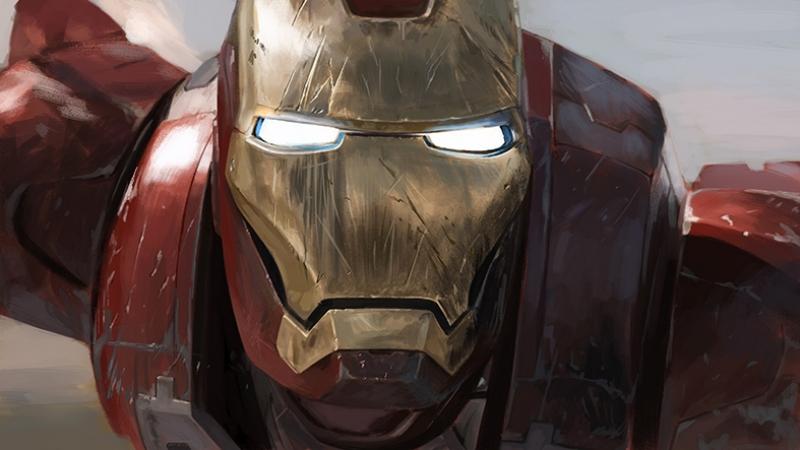 Iron Man 2 Süper Kahramanlar Kanvas Tablo