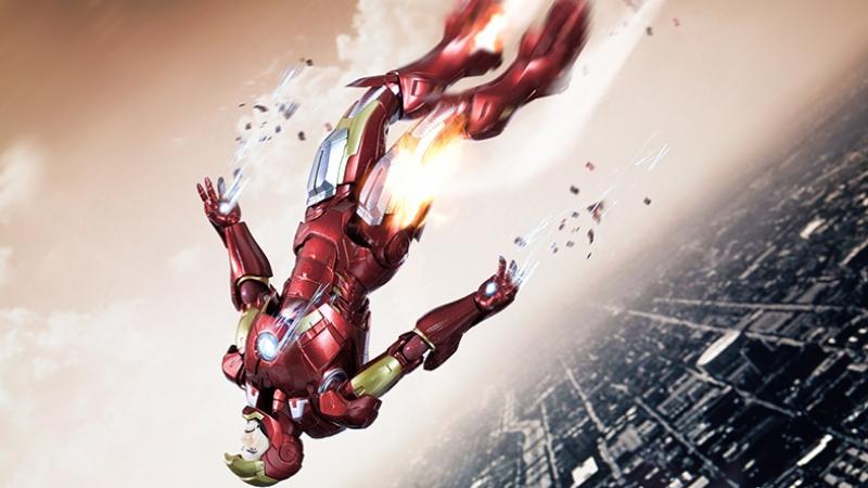 İron Man 3 Demir Adam Çizgi Film Süper Kahramanlar Kanvas Tablo