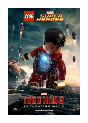Iron Man Demir Adam 3 Lego Süper Kahramanlar Kanvas Tablo