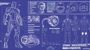 Iron Man Demir Adam Stark Proje Marvel Süper Kahramanlar Kanvas Tablo