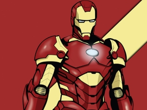 Iron Man İllustrasyon Süper Kahramanlar Kanvas Tablo