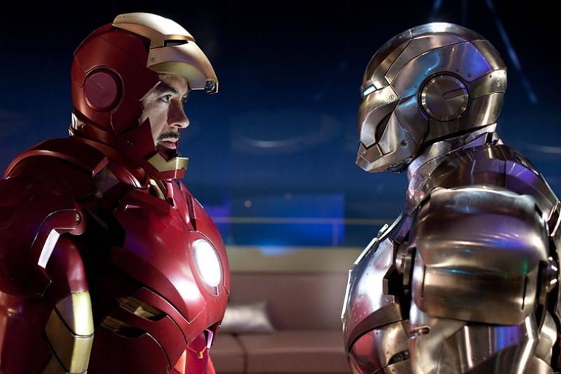 Iron Man Mark II ve Mark III Süper Kahramanlar Kanvas Tablo