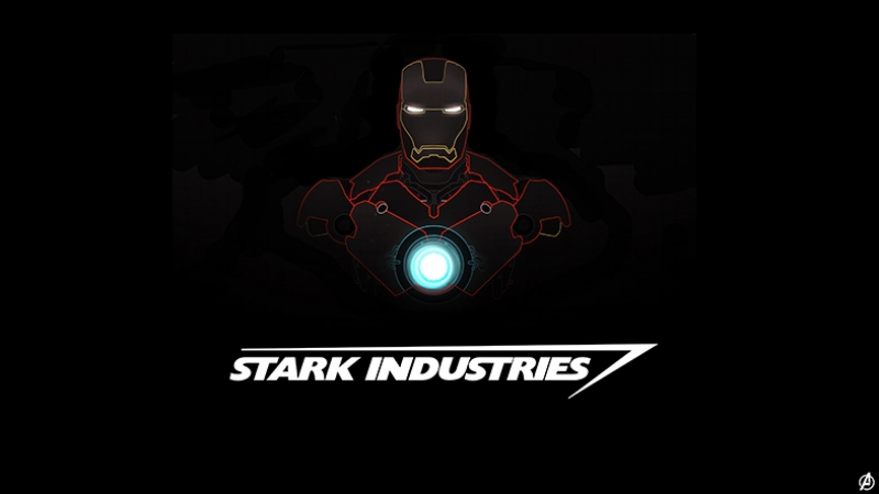 Iron Man Stark Industries Süper Kahramanlar Kanvas Tablo