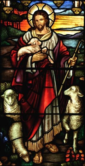 İsa Göğe Yükseliş Kilise Vitrayı Dini & İnanç Kanvas Tablo