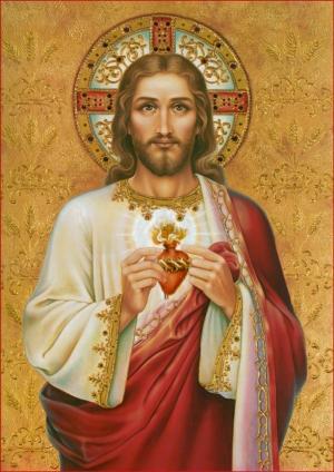 İsa Kilise Tasviri Dini & İnanç Kanvas Tablo