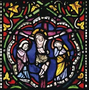 İsa Kilise Vitrayı Dini & İnanç Kanvas Tablo