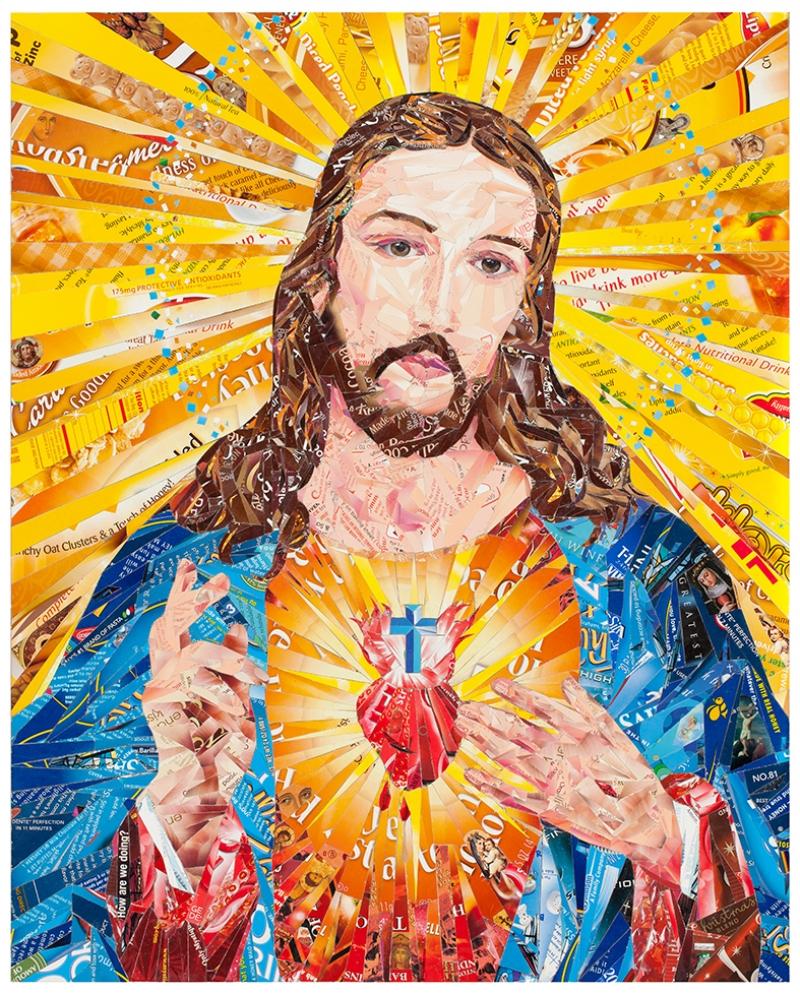 İsa Kolaj Dini & İnançlar Kanvas Tablo