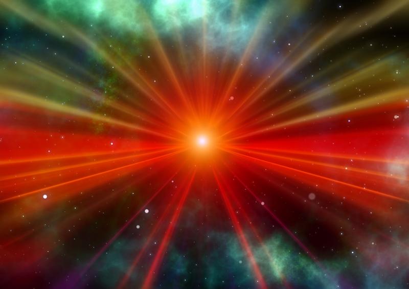 Işık Patlaması Abstract Dijital ve Fantastik Kanvas Tablo