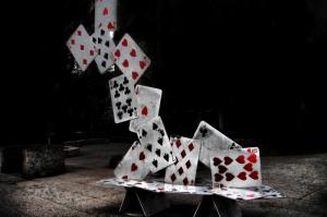 İskambil Poker Kağıtları Fotoğraf Dijital Fantastik Kanvas Tablo