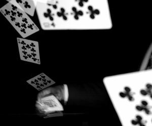 İskambil Siyah Beyaz Fotoğraf Kanvas Tablo