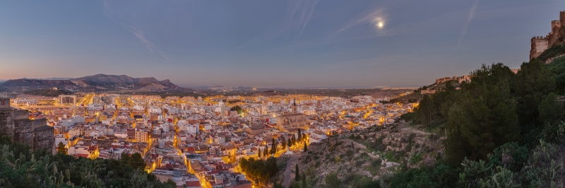 İspanya Panoramik Şehir Manzaraları Kanvas Tablo