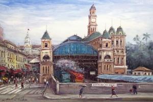 Ispanya Sehir Manzaralari Yagli Boya Sanat Kanvas Tablo