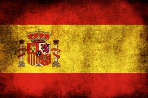 İspanyol Bayrağı, Eskitilmiş Retro İspanya Bayrağı Kanvas Tablo