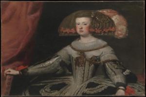 İspanyol Prensesi Mariana Of Austria 1634–1696, Diego De Velazquez Klasik Sanat Kanvas Tablo
