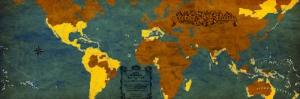 Ispanyollarin Yayilimi Eski Istanbul Haritasi Cografya Canvas Tablo