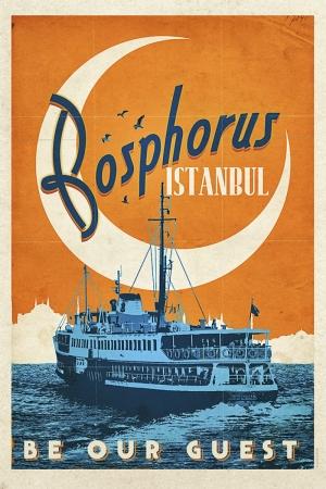 İstanbul Boğazı Şehirler Kanvas Tablo