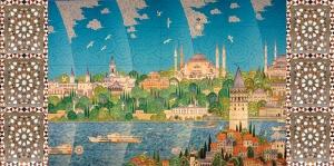 İstanbul Minyatür Osmanlı ve İslami Exclusive Kanvas Tablo