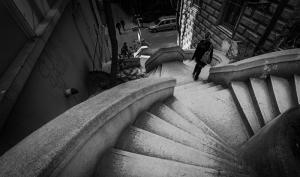 İstanbul Tarihi Merdivenler Fotoğraf Kanvas Tablo