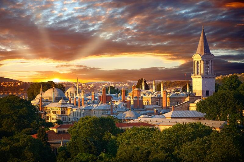 İstanbul Topkapı Sarayı Dünyaca Ünlü Şehirler Kanvas Tablo