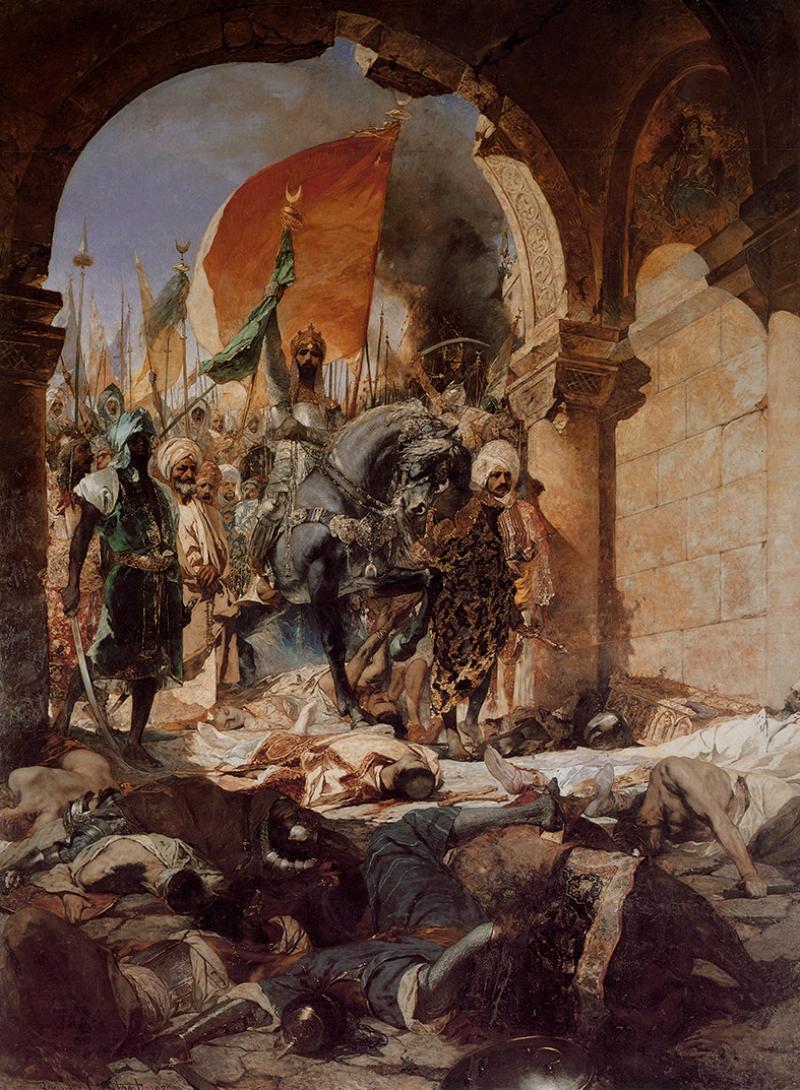 İstanbul'un Fethi Osmanlı Tarihi Kanvas Tablo