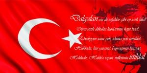 İstiklal Marşı, Baş Komutan Atatürk, Türk Bayrağı-5 Kanvas Tablo