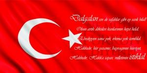 İstiklal Marşı, Baş Komutan Atatürk, Türk Bayrağı-7 Kanvas Tablo