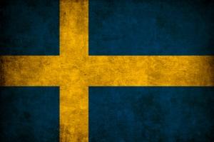İsveç Bayrağı, Eskitilmiş Retro İsveç Bayrağı Kanvas Tablo