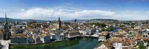 İsviçre Zürih Panoramik Şehir Manzaraları-1 Dünyaca Ünlü Şehirler Kanvas Tablo