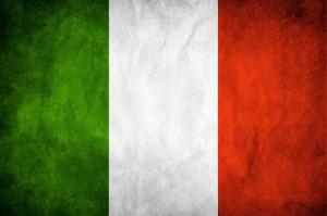 İtalya Bayrağı, Eskitilmiş Retro İtalyan Bayrağı Kanvas Tablo
