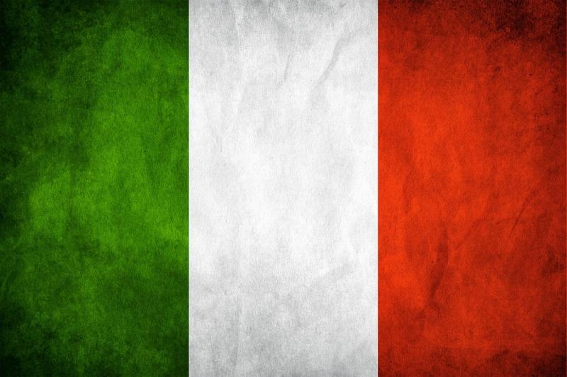Italya Bayrağı Eskitilmiş Retro Italyan Bayrağı Kanvas Tablo Arttablo