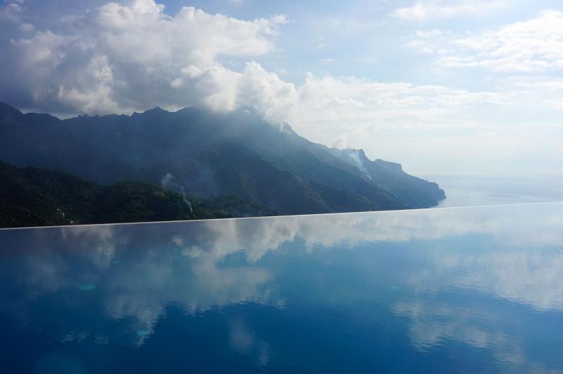 İtalya Sonsuz Havuz Doğa Manzaraları Kanvas Tablo