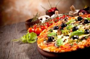 İtalyan Pizza Lezzetler Kanvas Tablo