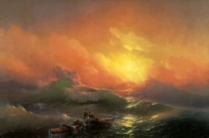 İvan Aivazovsky Dokuzuncu Dalga Yağlı Boya Klasik Sanat Kanvas Tablo