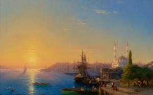 İvan Aivazovsky Kırım Limanı Yağlı Boya Klasik Sanat Kanvas Tablo