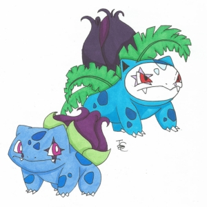 İvysaur ve Bulbasaur 8 Pokemon Karakterleri Kanvas Tablo