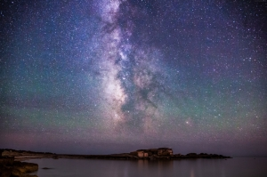 İzlanda Akşam Işıkları Yıldızlar 1 Dünya & Uzay Kanvas Tablo