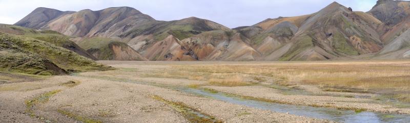 İzlanda Dağ Manzarası Panaromik Kanvas Tablo