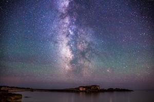 İzlanda Yıldızlar Dünya & Uzay Kanvas Tablo