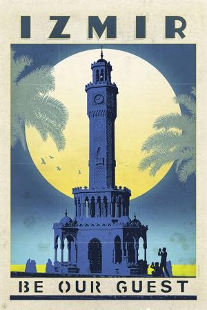 İzmir Saat Kulesi Şehirler Kanvas Tablo