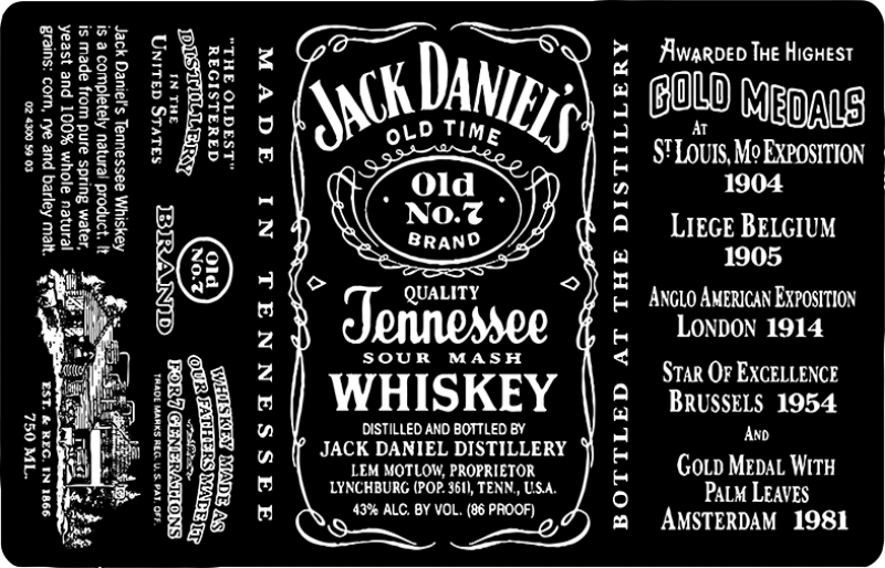Jack Daniels Popüler Kültür Kanvas Tablo