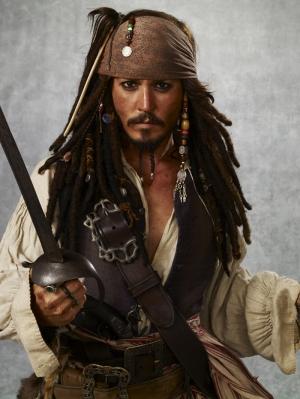 Jack Sparrow Karayip Korsanları Kanvas Tablo