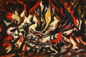 Jackson Pollock Ateş Yağlı Boya Klasik Sanat Canvas Tablo