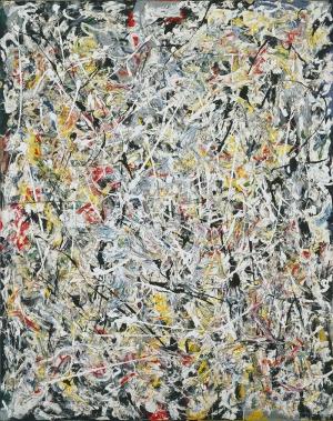 Jackson Pollock Beyaz Işık Yağlı Boya Klasik Sanat Canvas Tablo